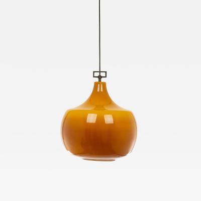 Venini Amber glass pendant by Venini 1950s