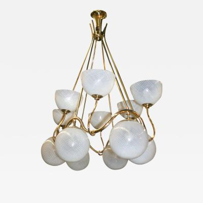 Venini Art Deco Venini Chandelier made in Italy