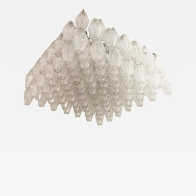 Venini Colossal Venini Attributed Polyhedral Chandelier Italy 1960s