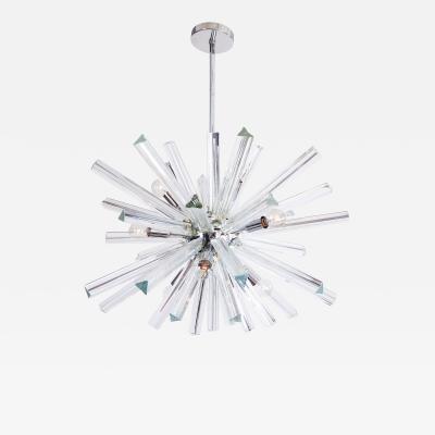 Venini Crystal Glass Rod Sputnik Chandelier by Venini