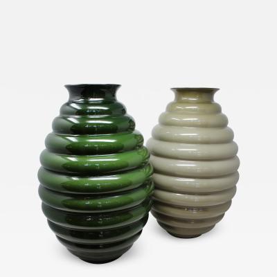 Venini Deco Vases by Venini
