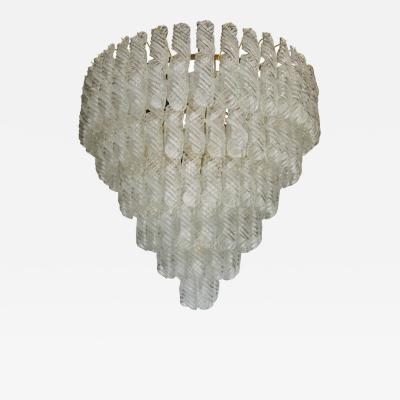 Venini Fantastic Venini Spiral Glass Chandelier