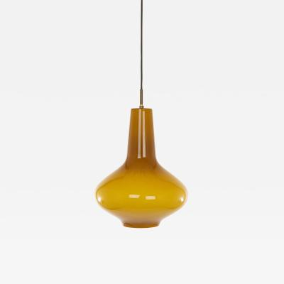 Venini Hand blown Murano glass pendant by Massimo Vignelli for Venini 1950s