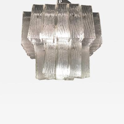 Venini Italian Modern Handblown Glass Chandelier Venini