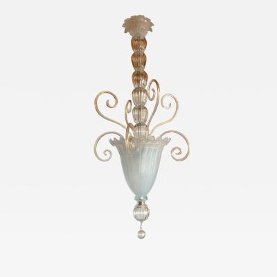 Venini Large Mid century modern vintage Murano glass lantern Italy 1960s attr to Venini