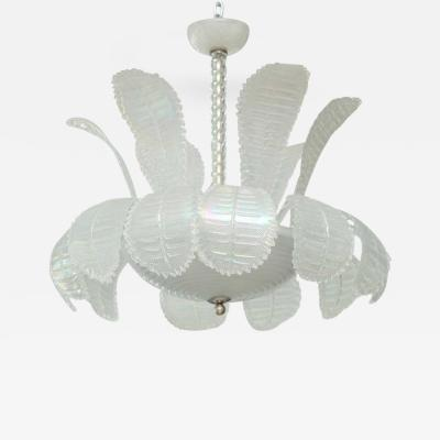 Venini Large Venini Murano Glass Chandelier