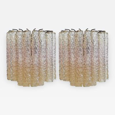 Venini Mid Century Murano Sconces by Venini Pair