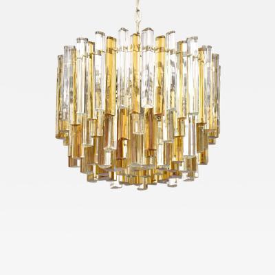 Venini Mid century Venini Murano chandelier Trilobo