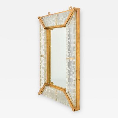 Venini Monumental Venini Mirror 1967 Two Available