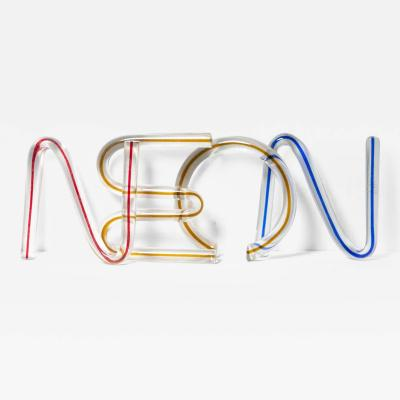 Venini N E O N Crystal Letters by Massimo Vignelli for Venini