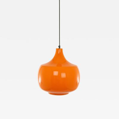 Venini Orange murano glass pendant by Venini 1950s