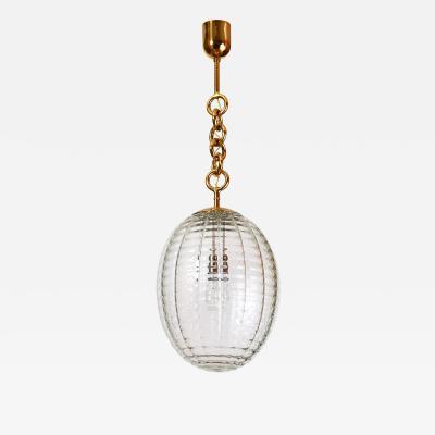 Venini Oval Venini Glass Lantern Italy 1950s
