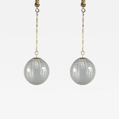 Venini Pair of Lanterns by Venini Italy 1940s