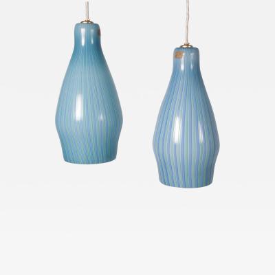 Venini Pair of Pendant Lamps by Venini