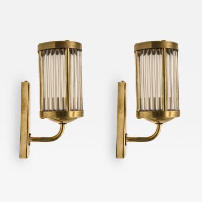 Venini Pair of Venini Style Wall Lanterns