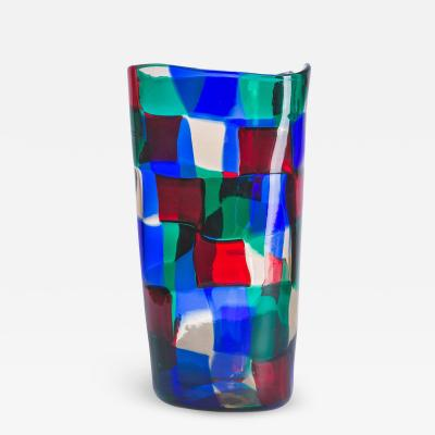 Venini Pezzato Vase by Fulvio Bianconi for Venini