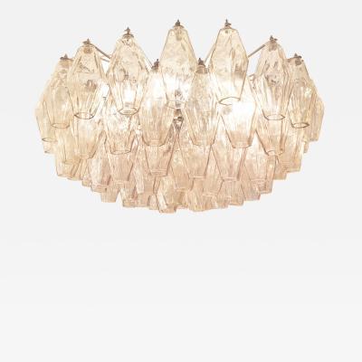 Venini Rose Venini Poliedri Murano Glass Chandelier