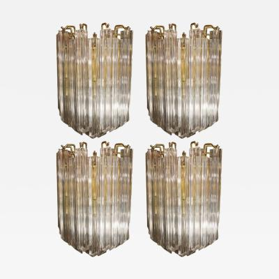 Venini Set of Four Venini Sconces