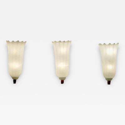 Venini Set of Three Venini Wall Lights