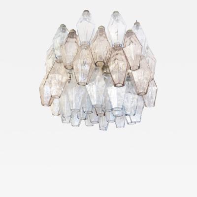 Venini Small Venini Poliedri Murano Glass Chandelier