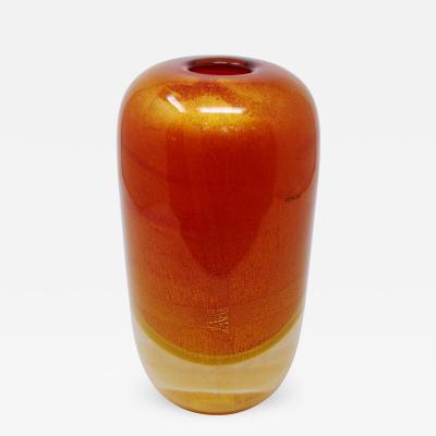 Venini Sommerso Oro Vase by Venini