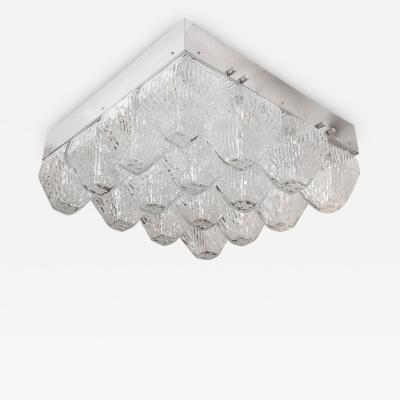 Venini Striated Glass Element Flush Mount