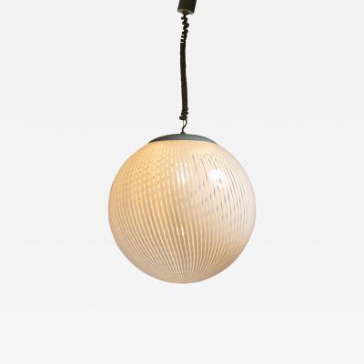 Venini Tessuto Pendant Lamp Manufactured by Venini