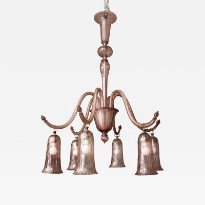 Venini Venini Chandelier designed by Napoleone Martinuzzi Italy 1930