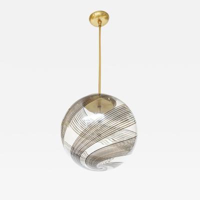 Venini Venini Glass And Brass Pendant