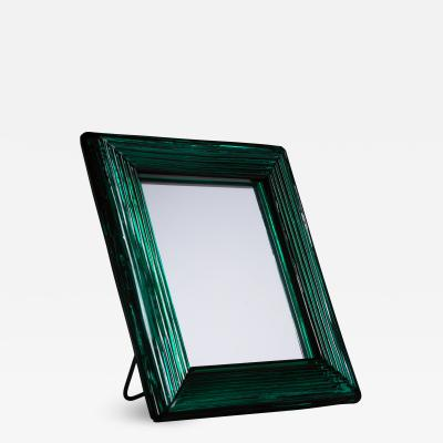 Venini Venini Murano green glass table mirror 1930s