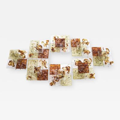Venini Venini Murano patchwork wall appliques Cheerio