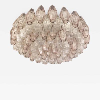 Venini Venini Polyhedral Chandelier Italy 1960s