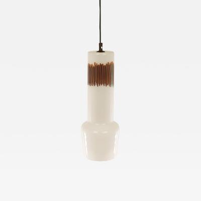 Venini White and Red glass pendant by Massimo Vignelli for Venini 1950s