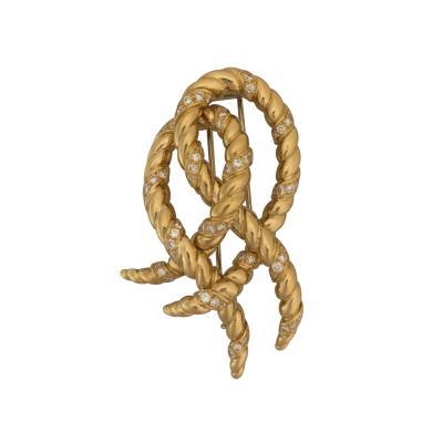 Verdura Verdura swirl brooch