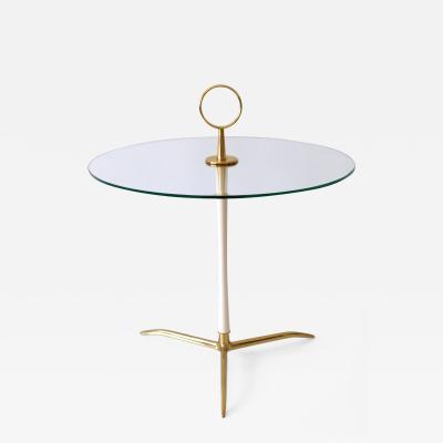 Vereinigte Werkst tten M nchen Elegant Mid Century Modern Side Table by Vereinigte Werkst tten Germany 1950s