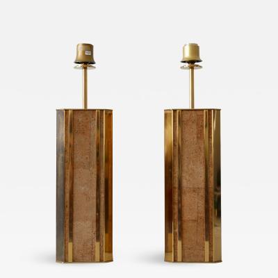 Vereinigte Werkst tten M nchen Set of Two Monumental Mid Century Table Lamps by Vereinigte Werkst tten Germany