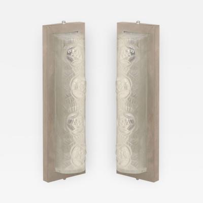 Verrerie d Art Degu Pair of Art Deco Sconces by Degue