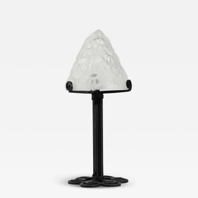 Verrerie d Art Degu Small Art Deco Table Lamp By Degu