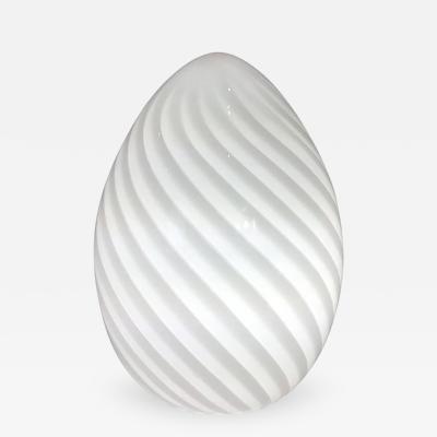 Vetri Murano Vetri Murano Handblown Swirl Glass Egg Lamp