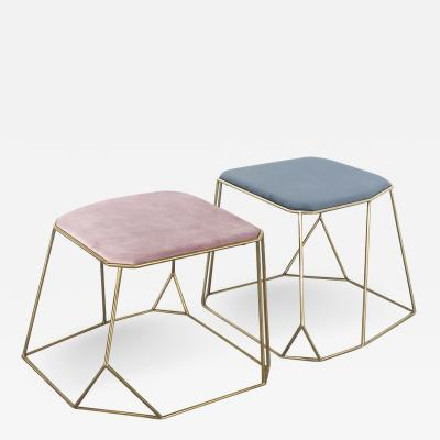 Vintage Domus Collection Brass Stool design by Vintage Domus luxury collection