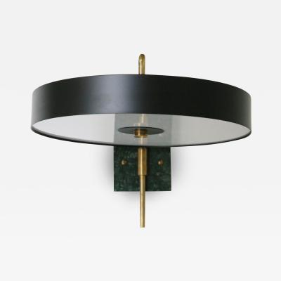 Vintage Domus Collection Italian Wall Lamp black new production in style MidCentury green marble 2018