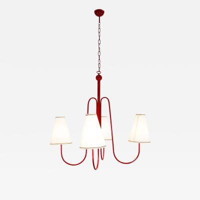 Vintage Domus Collection Large Chandelier in the style of Jean Royere Contemporary