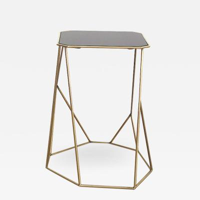Vintage Domus Collection coffee table customizable glass and brass