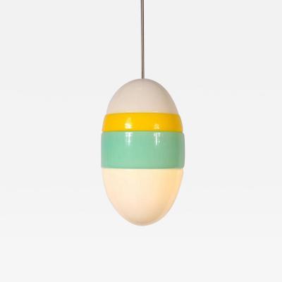 Vistosi 1960s Murano Glass Hanging Lamp by Vistosi Italy