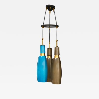 Vistosi 60s pendant by VISTOSI in coloured opaline glass