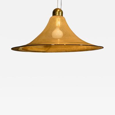 Vistosi Vetreria Vistosi Lentichie Golden Fume Glass Lamp