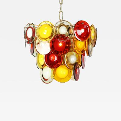 Vistosi Vistosi Murano Glass Disc Chandelier