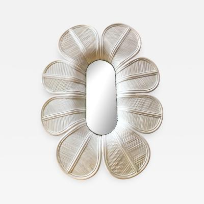 Vivai del Sud Glamorous Giant Flower Wall Mirror Italy 1960s
