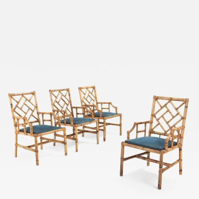 Vivai del Sud Vivai Del Sud Dining Chairs In Bamboo 1970s