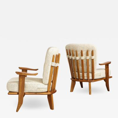 Votre Maison Pair of Lounge Chairs by Guillerme Chambron for Votre Maison